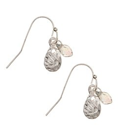 Nine West Vintage America Collection® Worn Silvertone Small Drop Earrings