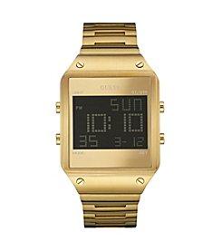 Guess Men's Goldtone Radar Sleek Digital Watch