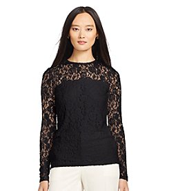 Lauren Ralph Lauren® Lace Long-Sleeved Tee
