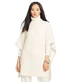 Lauren Ralph Lauren® Wool-Alpaca Turtleneck Poncho