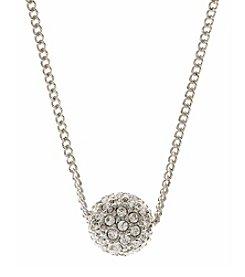 Givenchy® Silvertone Fireball Pendant Necklace
