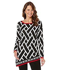 Rafaella® Geo Print Sweater
