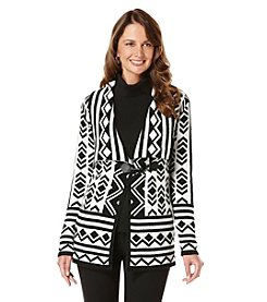 Rafaella® Pattern Cardigan With Toggle