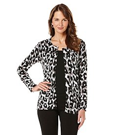 Rafaella® Animal Print Cardigan