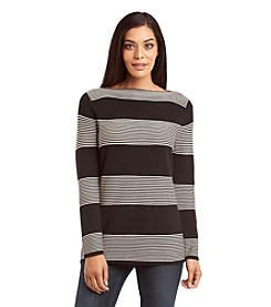 Rafaella® Stripe Pull-Over Sweater
