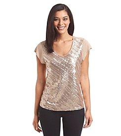 Nine West Jeans® Cap Sleeve Sequin Top