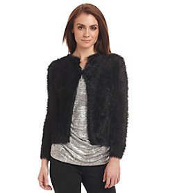 Calvin Klein Faux-Fur Sweater Jacket