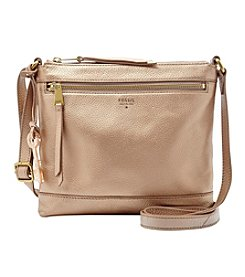 Fossil® Metallic Leather Crossbody