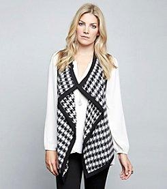 Karen Kane® Reversible Houndstooth Vest