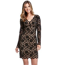 Karen Kane® Long Sleeve Scallop Dress