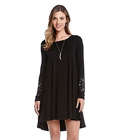 Karen Kane® Embellished Cuff Swing Dress