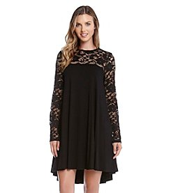 Karen Kane® Lace Yoke Swing Dress