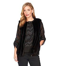 Chaus Faux Fur Zip Vest