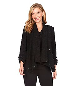 Chaus Sequined Cardigan