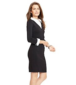 Lauren Ralph Lauren® Contrast Collar Sweater Dress