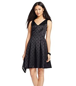 Lauren Ralph Lauren® Polka-Dot Jacquard Dress