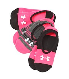 Under Armour® 3-Pack Lolo No-Show Socks