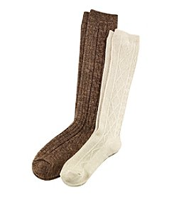 Relativity® 2-Pack Yarn Twist Socks