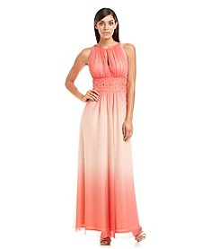 Jessica Howard® Keyhole Beaded Waist Gown