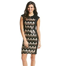 Connected® Petites' Sequin Patterned Panel Dress