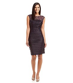London Times® Shimmer Lace Dress