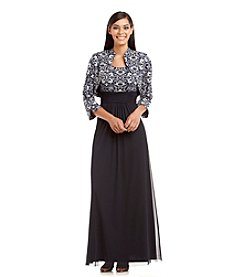 Jessica Howard® Patterned Bodice Gown With Jacket