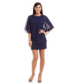 MSK® Beaded Neckline Blouson Dress
