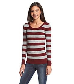 Pink Rose® Ribbed Striped Sweater