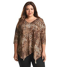 Living Doll® Plus Size Animal Print Tee