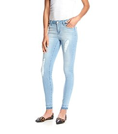 Celebrity Pink Destructed Skinny Jeans