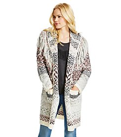 Jessica Simpson Printed Cardigan Sweater