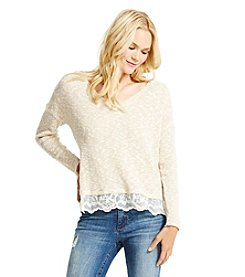 Jessica Simpson Lace Pullover Sweater