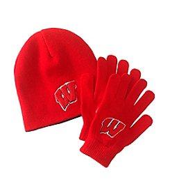 NCAA® University of Wisconsin Child's Hat & Glove Set