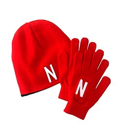 NCAA® University of Nebraska Boy's Hat & Glove Set