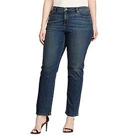 Lauren Ralph Lauren® Plus Size Slim Straight Leg Jeans