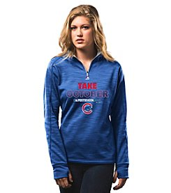 Majestic MLB® Chicago Cubs Women's Streak Quarter Zip Pullover