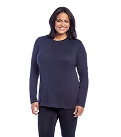 Ruff Hewn Plus Size Solid Crew Neck Top