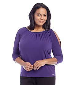 MICHAEL Michael Kors® Plus Size Cold Shoulder Top