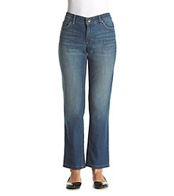 Ruff Hewn Petites' Straight Leg Jeans