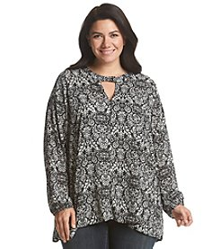 Living Doll® Plus Size Printed Tunic