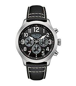 Nautica® Men's Silver/Black NCC 01 Chronograph Watch
