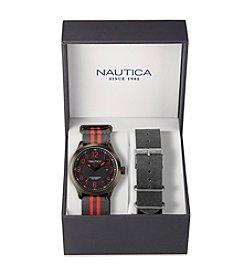 Nautica® Men's Black NCC 01 Date Watch Box Set