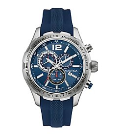 Nautica® Men's NST 30 Chronograph Watch with Navy Strap