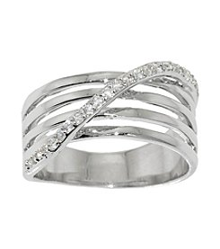 Athra Silver-Plated Ring with Cubic Zirconia
