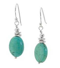 Athra Sterling Silver Turquoise Earrings