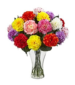 Nearly Natural® Carnation Arrangement with Vase
