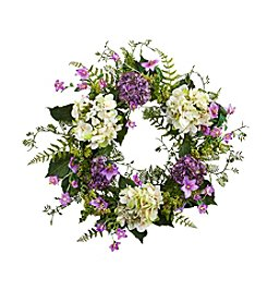 Nearly Natural® Hydrangea Berry Wreath