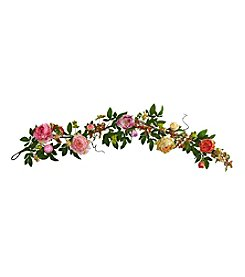 Nearly Natural® Mixed Peony and Berry Garland