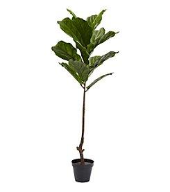Nearly Natural® 4-ft. UV Resistant Fiddle Leaf Tree