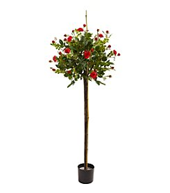 Nearly Natural® Rose Topiary Silk Tree